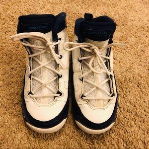 White & Blue Jordan 9 Retro ( TD) - Size 9c